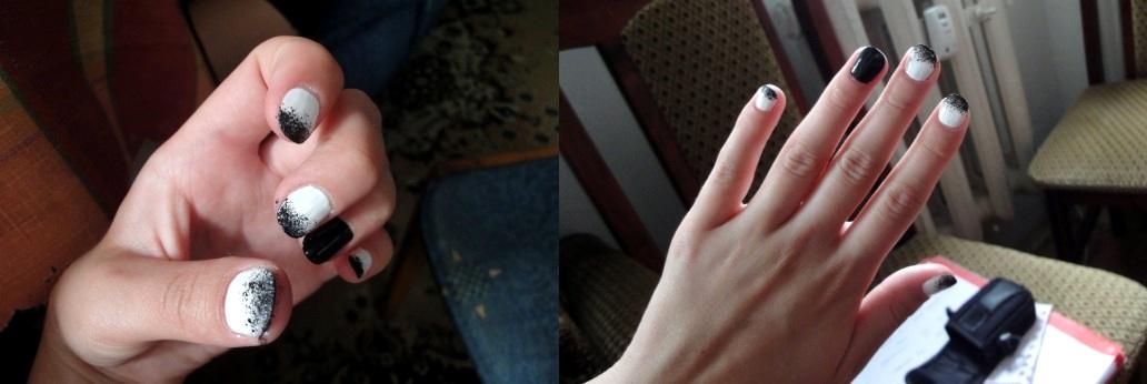 'Sprayowane' paznokcie.